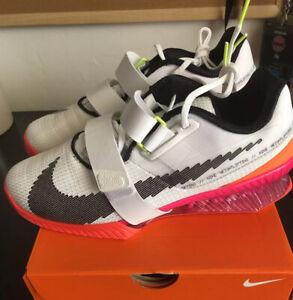 "Nike Romaleos 4 SE, Men's 9 ""Rawdacious"" DJ4487-121 White/bright Crimson/pink"