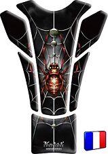 Protège Réservoir Keiti® 3D Sticker Autocollant Inaltérable Araignée Rouge