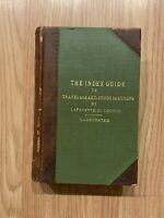 Antique - The Index Guide To Travel And Art Study In Europe By C. Loomis 1901