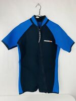 Henderson Mens Wetsuit XL Black And Blue Zip Up