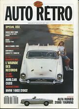 AUTO RETRO n°156 MAI 1993 ALFA ROMEO 2000 TOURING BMW 1602/2002 ARONDE de RECORD