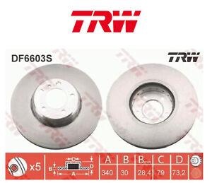2x TRW DF6603S Paire Disque Frein 340mm BMW F20 F21 F30 F31 F32 F34 34116792223