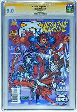 CGC 9.0 X-FORCE MEGAZINE #1~1ST DEADPOOL~MARVEL COMICS~SIGNED ROB LIEFELD~1996