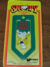 """Vintage Snoopy 1958 United Feature Syndicate Sentiment Clip """"Let's Boogie"""" NIP"""