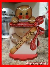 HP Hand Painted Gingerbread Shelf Sitter, Ginger Decor, Table Top, kitchen