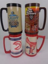 Vtg Lot of 4 Thermo Serv Plastic Beer Mugs Budweiser Bud Man Schlitz Light