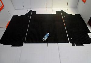 TDCI 110 utility black rear load area rubber mat set fits land rover defender