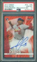 2017 Topps Finest Alex Reyes Red Wave Refractor RC Rookie Auto /25 PSA 10