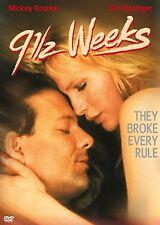 9 1/2 Nine and a Half Weeks Mickey Rourke Kim Basinger DVD Movie Film New 91/2