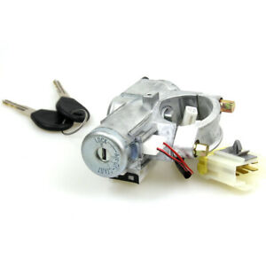 A/T Ignition Switch Cylinder Steering Lock Set Fit 1994-1998 Nissan 240SX S14