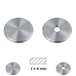 Ronde geschliffen Edelstahl Ronden 4mm gedrehte Platte Scheibe einseitig Radius