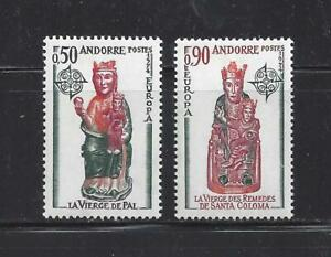 ANDORRA (FRENCH ADM) - 232-233 - MH - 1974-EUROPA - VIRGIN OF PAL & SANTA COLOMA