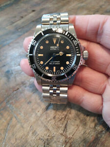5513 Submariner Mod Seiko NH35 Automatic Stainless Mens Diver Watch Nice!!!