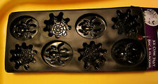 BLACK Spider Web ICE CUBE TRAY CANDY JELLO MOLDS PROP HALLOWEEN  PARTY