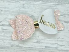 Small Personalised Glitter Hair Bow, Toddler Hair Clip, Any Colour, Any Name