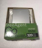 Seagate 320GB FreeAgent Go for Mac Portable Hard Drive USB 2.0 (Silver)