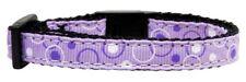 Mirage Pet Products Retro Nylon Ribbon Collar for Cat, Lavender