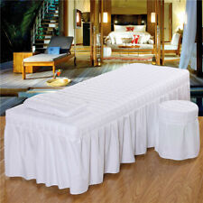 Spa Massage Bedding Linen Set Table Bed Valance Sheet Pillowcase Stool Cover