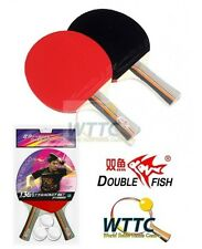 Double Fish 136A 2 Players Table Tennis Racket Sets Long Handle & 3 Balls
