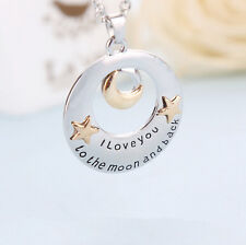 New I Love You To The Moon and Back Pendants Necklaces Family Members Cute Gifts