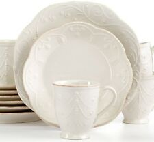 Lenox French Perle White 16-piece Scalloped Dinnerware Set Service for 4 NEW