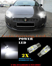 LUCI POSIZIONE FIAT BRAVO 2007+ CANBUS T10 BIANCO 6 LED W5W SUPER QUALITA