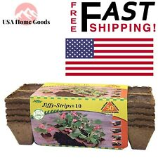 Peat Strips (50 Pots) Flower Vegetable Seed Planter 100% Biodegradable Peat Pots