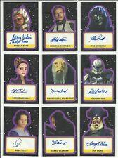 2017 Topps Star Wars Journey To The Last Jedi Auto Autograph Purple #ed 99 -PICK