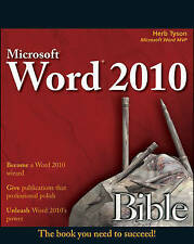 Tyson, Herb, Word 2010 Bible, Very Good Book