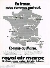 PUBLICITE ADVERTISING 065  1979  ROYAL AIR MAROC  compagnie aérienne