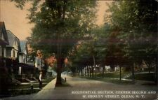 Olean NY Second & W. Henley c1910 Postcard