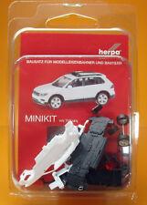 Herpa 013109 Minikit: Volkswagen VW Tiguan mit Blaulichtbalken -  weiß / white