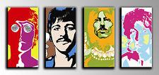 Cuadro Moderno Fotografico base madera, 116 x 62, Los Beatles retro