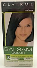 Clairol Balsam Hair Color Permanent  Dye 618 Black New