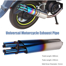 400mm*75mm Motorcycle Bike Modified Gatling Gun Slip-On Exhaust Pipe 31mm Inlet