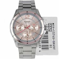 MTP-1374D-9A Men's Casio Watches Analog Steel Bands (No box)