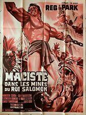 ANCIENNE AFFICHE MACISTE DANS LES MINES DU ROI SALOMON / BELINSKY / 120 X 160