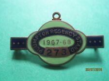 Plumpton Horse Racing membres badge - 1967/68 très bon état!!!
