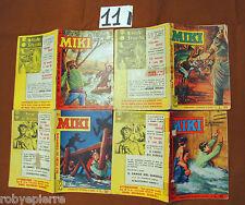 LOTTO 4 Albi Albo Capitan Miki a colori originali 1963 n 51 52 56 57 lire 30