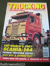 TRUCKING INTERNATIONAL - WORLD'S ONLY SCANI 144 - SEPT 1992