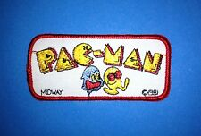 Original 1981 Vintage Retro Midway Pac Man Iron On Embroidered Hat Jacket Patch