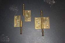 2 anciennes paumelles en laiton poli tire droite 6 x 90 - Produits neufs
