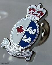 "CANADA Canadian Coast Guard Auxiliary "" Search & Rescue "" Silver Lapel Pin"
