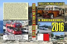 3339. Malta. Buses. June 2016. Buses, coaches and minibuses, includes the cruise