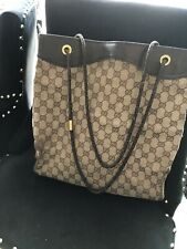 AUTHENTIC GUCCI TOTE SHOULDER BAG LARGE VINTAGE (VERY WORN). Please see photos