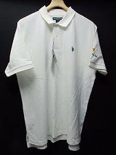 US Polo Assn. White Cotton Polo Shirt Short Sleeve Voltek NEW Men's XL  AR