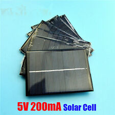 10pcs/1W 5V 200mA Solar Panel Cell Charger Solar Module Charge For 3.6V Battery
