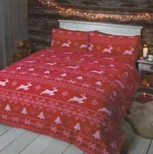 Linge de lit et ensembles rouges en flanelle