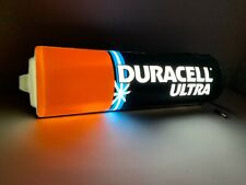 INSEGNA luminosa DURACELL Vintage Old Collectible Bulb Light Ad Sign Board NEON