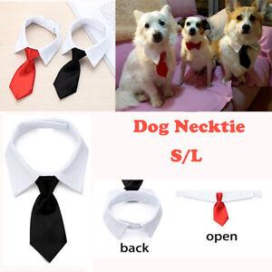 Grooming Adjustable Fashion Dog Necktie White Collar Pet Accessories Formal Tie